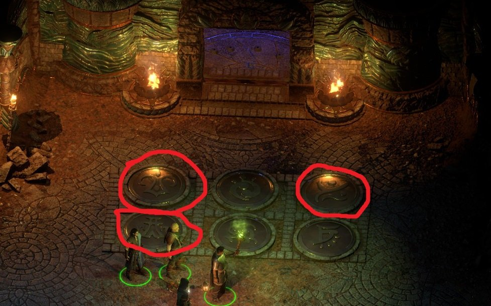 Walkthrough pillars of eternity 2 deadfire wiki there is a puzzle in a room called trial of flame to put out fire you need to activate three sigils on the ground that matched the shields in previous ccuart Images