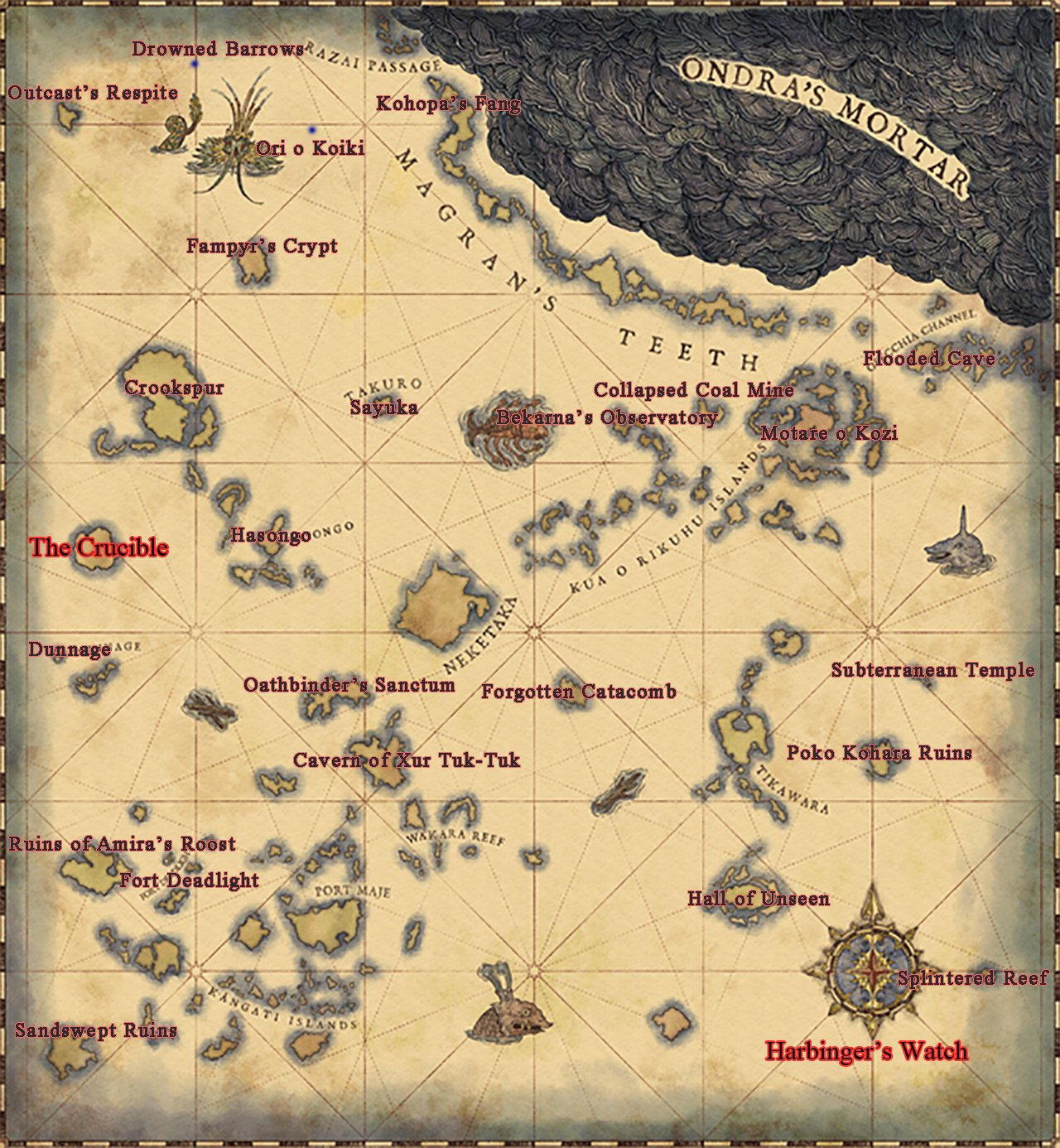 Mapa Pillars Of Eternity.Locations Pillars Of Eternity 2 Wiki